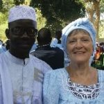 Diane with Rakis Yeele, President of the Translation Committee